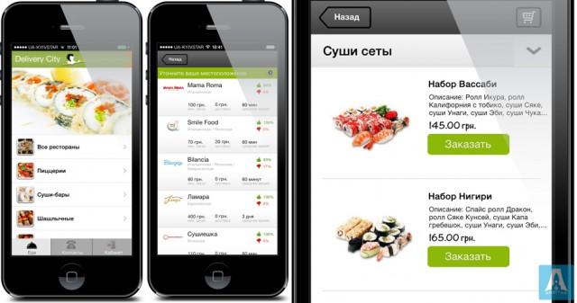 Delivery City - iOS приложение для службы доставки еды