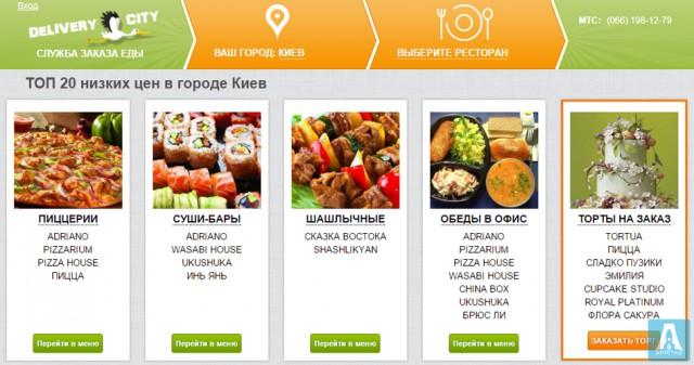 Delivery City - Служба доставки еды