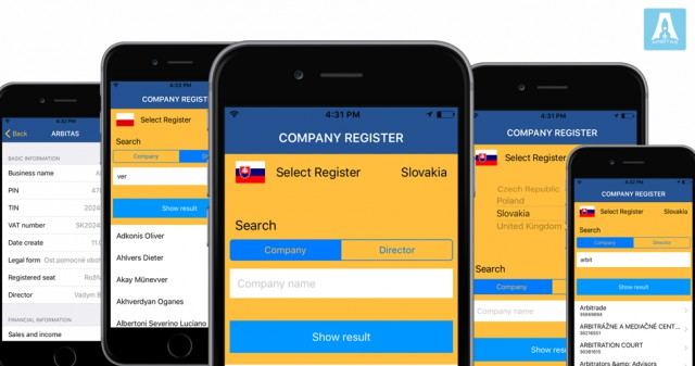 Company Register - iOS приложение для предприятий