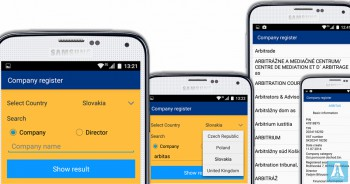 Company Register - Android app for business