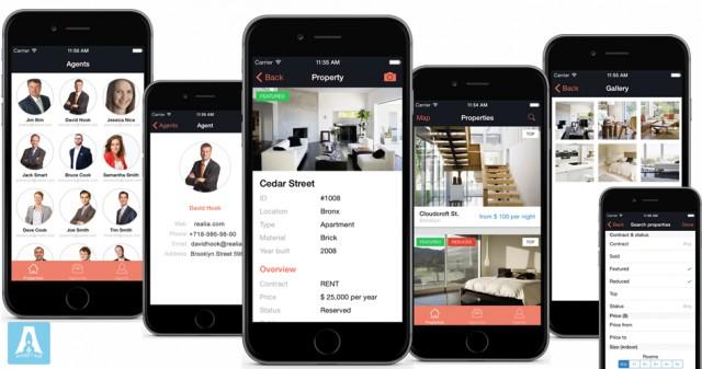 Realia - iOS приложение для Агентства Недвижимости