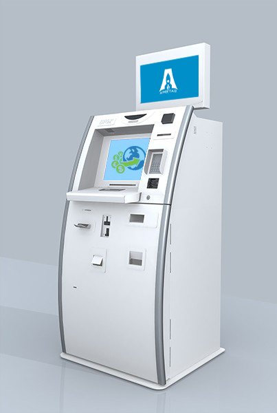 Kiosk for money transfers