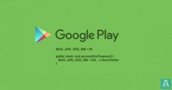 Google вдвое увеличила максимальный размер файлов APK в Google Play