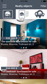 RealtApp - iOS app for Real Estate Agencies